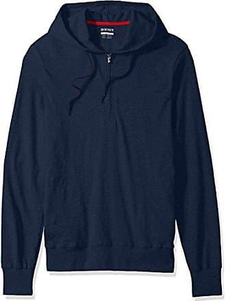 2(x)ist Mens Hooded Henley, Varsity Navy, Small