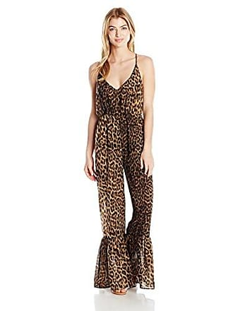 Guess Womens Animalier Cover Up Jumpsuit, Print, XS