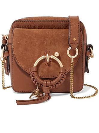 See By Chloé Square Textured-leather And Suede Shoulder Bag - Tan