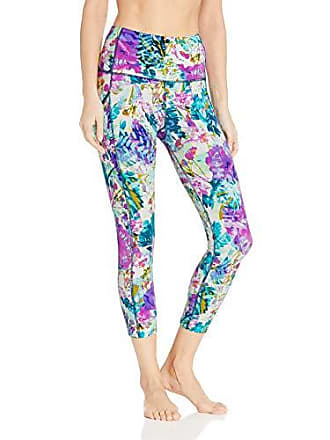 Body Glove Active Womens Drift Perfomance FIT Activewear Capri Pant, Oceanic Floral, X-Large