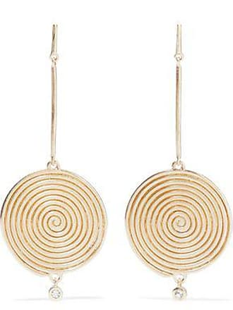 Elizabeth James And Woman Gold Tone Crystal Earrings Size