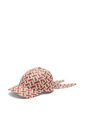 Burberry Monogram Logo Print Silk Tie Cap - Womens - Red