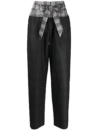 8pm tie waist trousers - Black