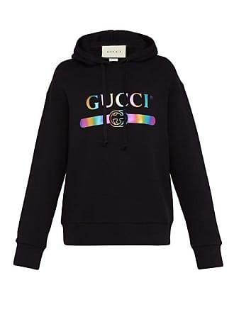 723ea3cb2fa8c Gucci Sweat-shirt à capuche et imprimé logo irisé
