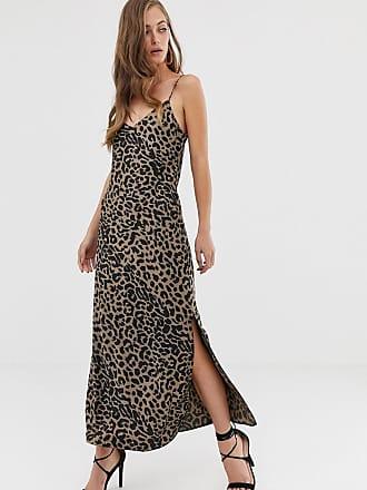 175d204cd1335f Asos satin cami maxi slip dress in leopard print - Multi