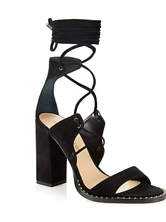 Tamara Mellon Dare Black Suede Sandals, Size - 36.5