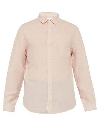 Onia Abe Linen Shirt - Mens - Light Pink