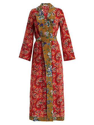 Anjuna Selene Paisley Print Silk Robe - Womens - Red Multi