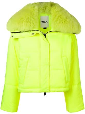 Yves Salomon - Army fox fur trim padded jacket - Yellow