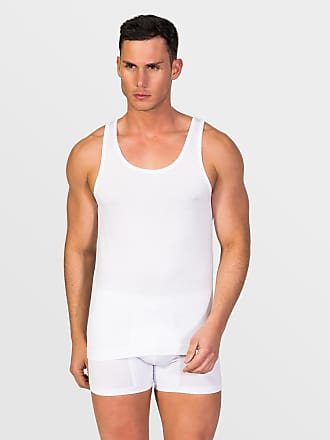 ZD Zero Defects Zero Defects white mercerized cotton tank top