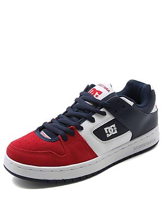 DC Tênis Couro DC Shoes Manteca Imp Vermelho