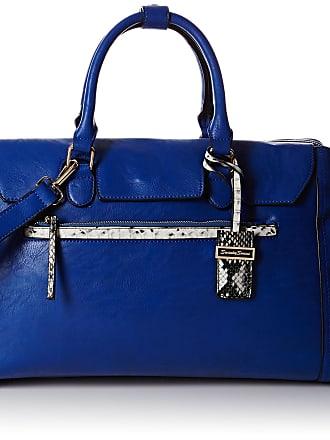Swankyswans Womens Hudson Snakeskin Trim Shoulder Bag Royal Blue