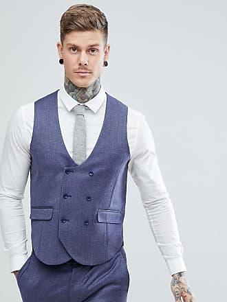 Asos Chaleco de traje de corte slim en 100% lana de merino azul intenso de 9361c733d1e