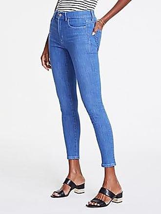ANN TAYLOR Petite Performance Stretch Skinny Jeans in Bright Mid Indigo Wash