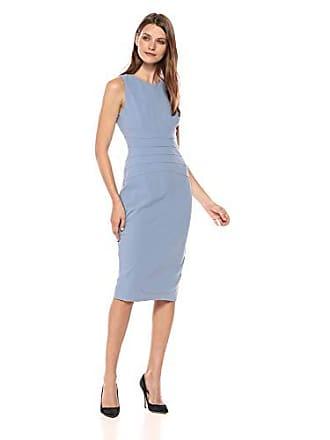 Ivanka Trump Womens Knit Sleeveless Waist Seaming Midi Dress, Cornsilk, 2