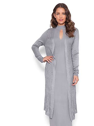 Lucy in the Sky Cardigan tricot cinza M