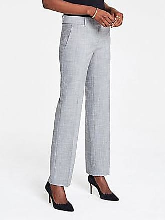 ANN TAYLOR The Straight Pant in Crosshatch - Curvy Fit