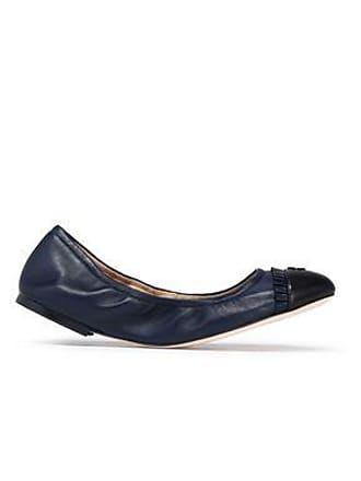 aa3db3f57 Tory Burch Tory Burch Woman Ruffle-trimmed Leather Ballet Flats Navy Size 5