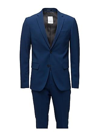 1cf1c8165ae7 Lindbergh Plain Mens Suit-Blazer + Pant Kostym Blå LINDBERGH