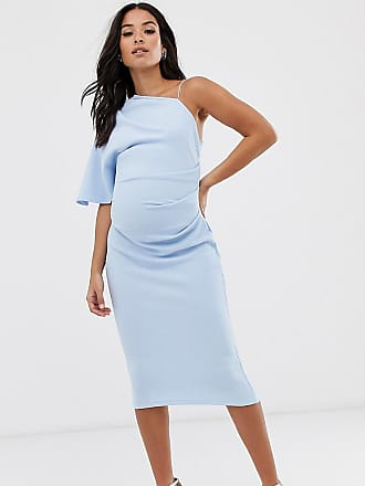 b75a5a4a6951e1 Asos Maternity ASOS DESIGN Maternity baby shower one shoulder strap detail  midi dress