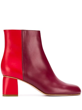Red Valentino RED(V) two-tone zipped booties - Roxo