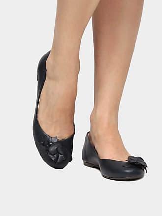 016bf92399 Shoestock Sapatilha Couro Shoestock Flor Feminina - Marinho - 33