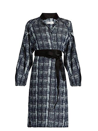 Amanda Wakeley Tempo Denim Print Shirtdress - Womens - Blue Multi