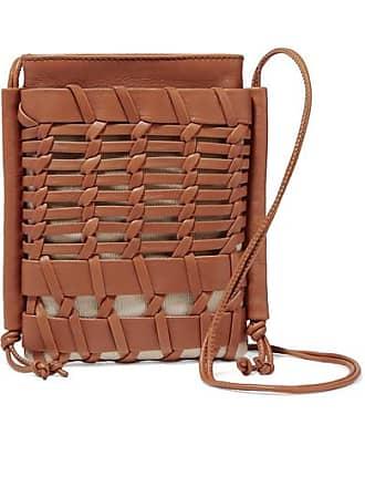 Hereu + Net Sustain Trena Mini Woven Leather And Organic Cotton-canvas Shoulder Bag - Tan