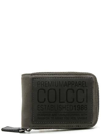 9bc458b5a19 Colcci Carteira Couro Colcci Lettering Cinza