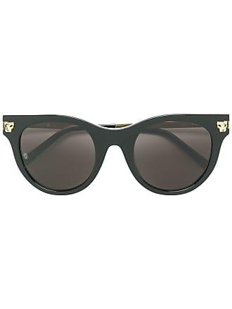 f399fe36cc67 Cartier round frame panther sunglasses - Black