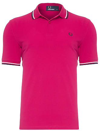 Fred Perry POLO MASCULINA TWIN TIPPED - ROSA