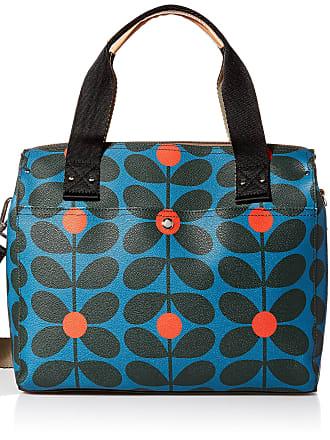 Orla Kiely Womens Sixties Stem Vinyl Messenger Bag, Kingfisher, One Size