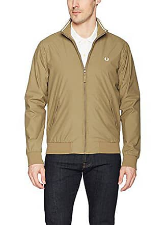 Fred Perry Mens Brentham Jacket, Bronze, Small