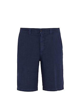 120% Lino Linen Shorts - Mens - Dark Navy