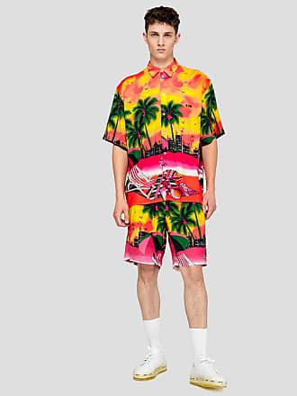 Msgm viscose california print shorts