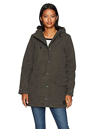 Rvca Womens Ground Control Sherpa Lined Jacket, Pirate Black, L