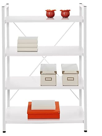 Unique Furniture Tribeca Bookcase - White Lacquer - 213-WHITE