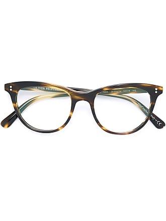 Oliver Peoples Armação de óculos Jardinette - Marrom