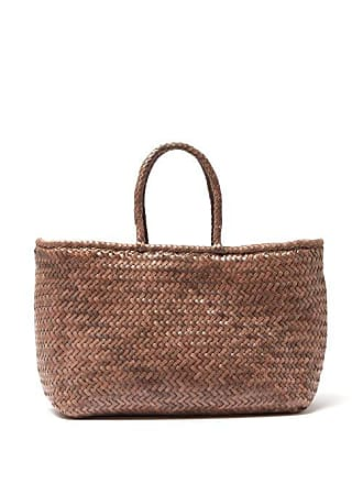 Dragon Diffusion Grace Woven Leather Basket Bag - Womens - Grey
