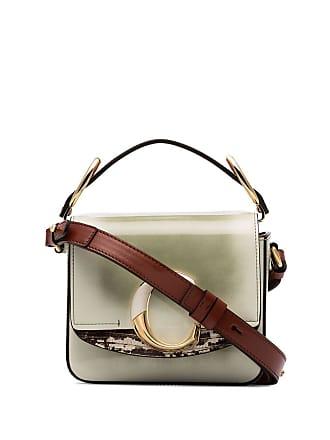 Chloé C-embellished shoulder bag - Verde