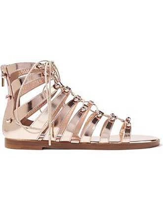 23ce619db Jimmy Choo London Jimmy Choo Woman Gigi Studded Metallic Leather Sandals  Rose Gold Size 35.5