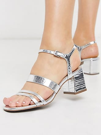 Miss Selfridge strappy heeled sandals in silver
