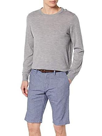 34ec98f3dbe Tom Tailor Herren Struktur Chino Hose aus Baumwolle Shorts Blau (Yarn Dye  Structure B 15575