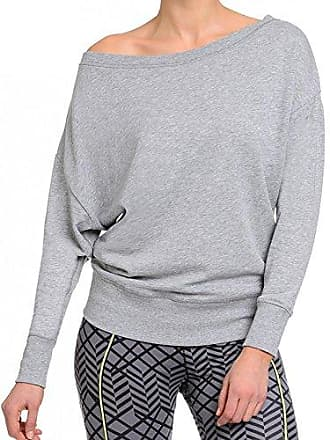 2(x)ist Womens French Terry Boat Neck Sweatshirt, Grey, Medium
