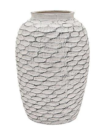 Three Hands 18 in. White Ceramic Vase - 55988