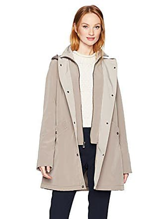 Jones New York Womens Hooded Inner Zip-up Bib Vestee Rain Topper, Desert Sand, XXS