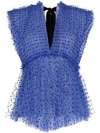 Khaite Blusa Dali com tule e poás - Azul