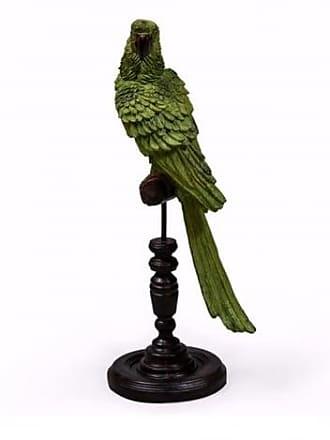 Sue Parkinson Home Collection Parrot On Perch Figure - Black