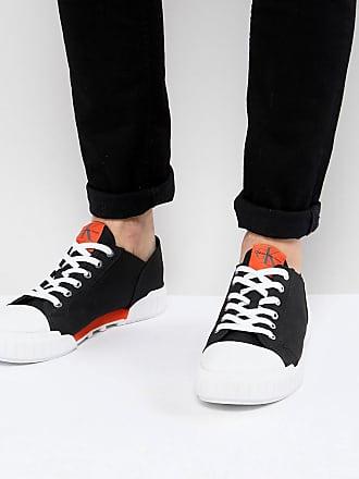 b5f27ec4a3a6d Calvin Klein Zapatillas de lona negras con suela gruesa Biff de Calvin Klein
