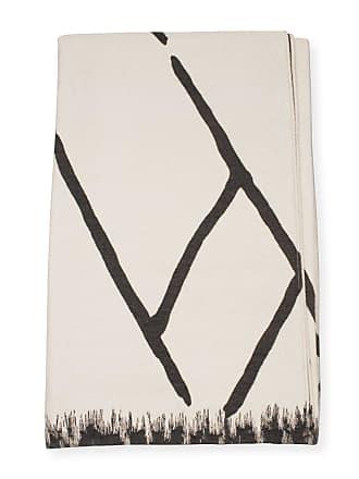Enzo Degli Angiuoni Luxe Gray and Cream Blanket